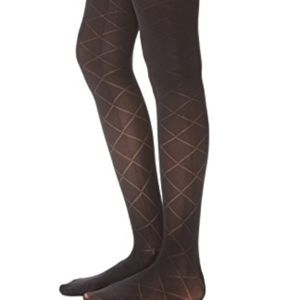 Kate Spade quilted tights size M/L Black